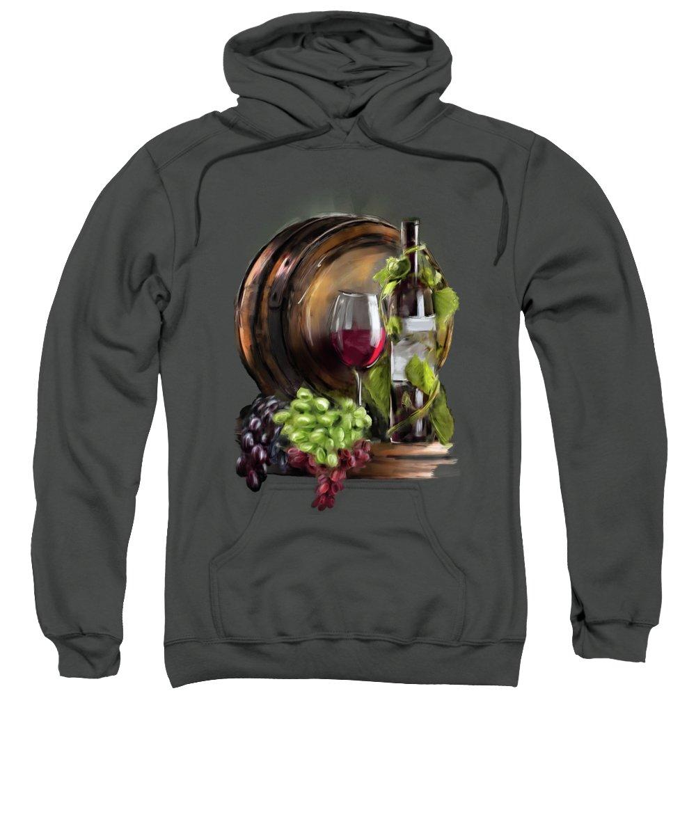 Wine Sweatshirt featuring the painting Wine Cellar by Melanie D