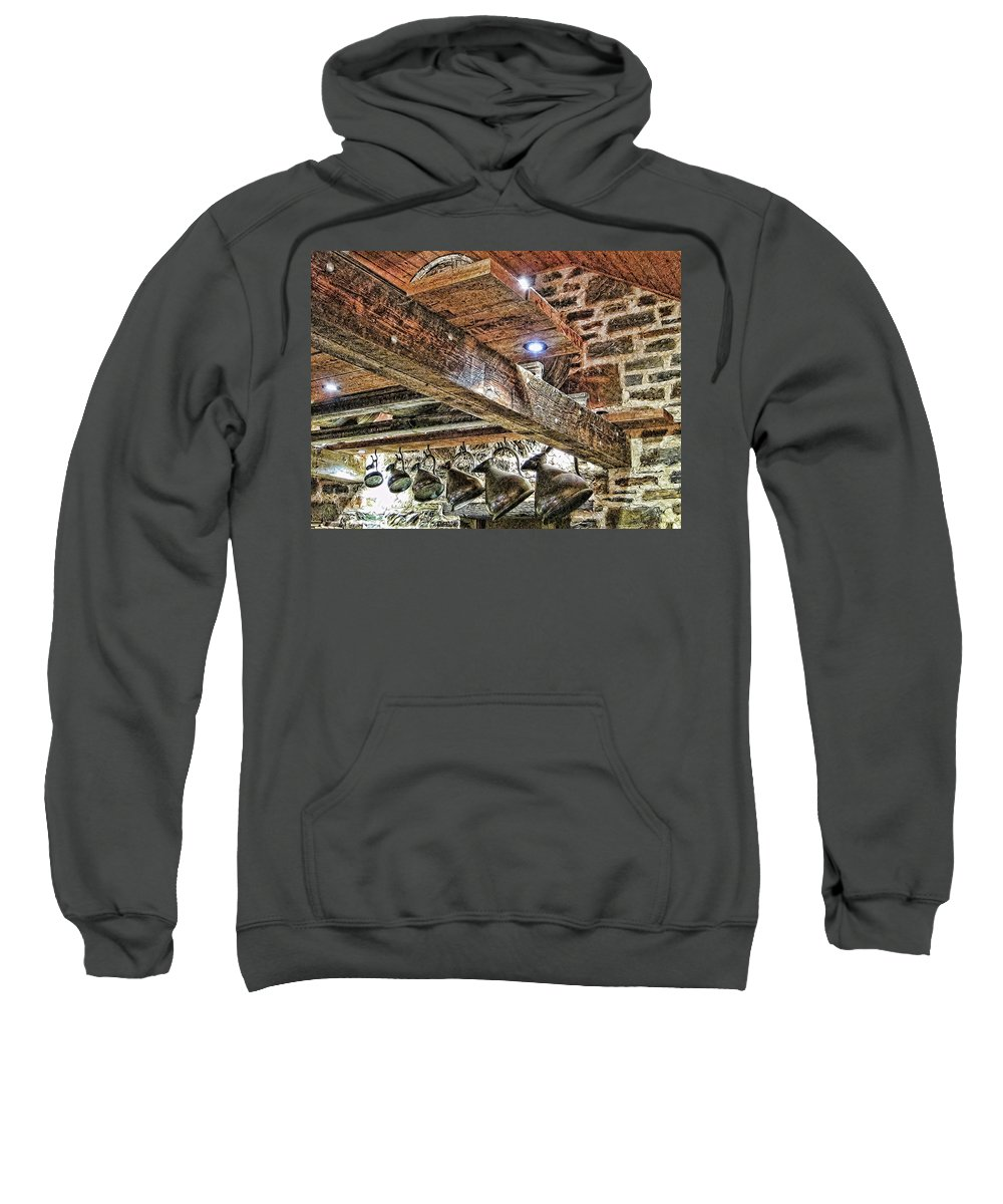 Copperware Sweatshirt featuring the photograph Wine Tasting by Douglas Barnard