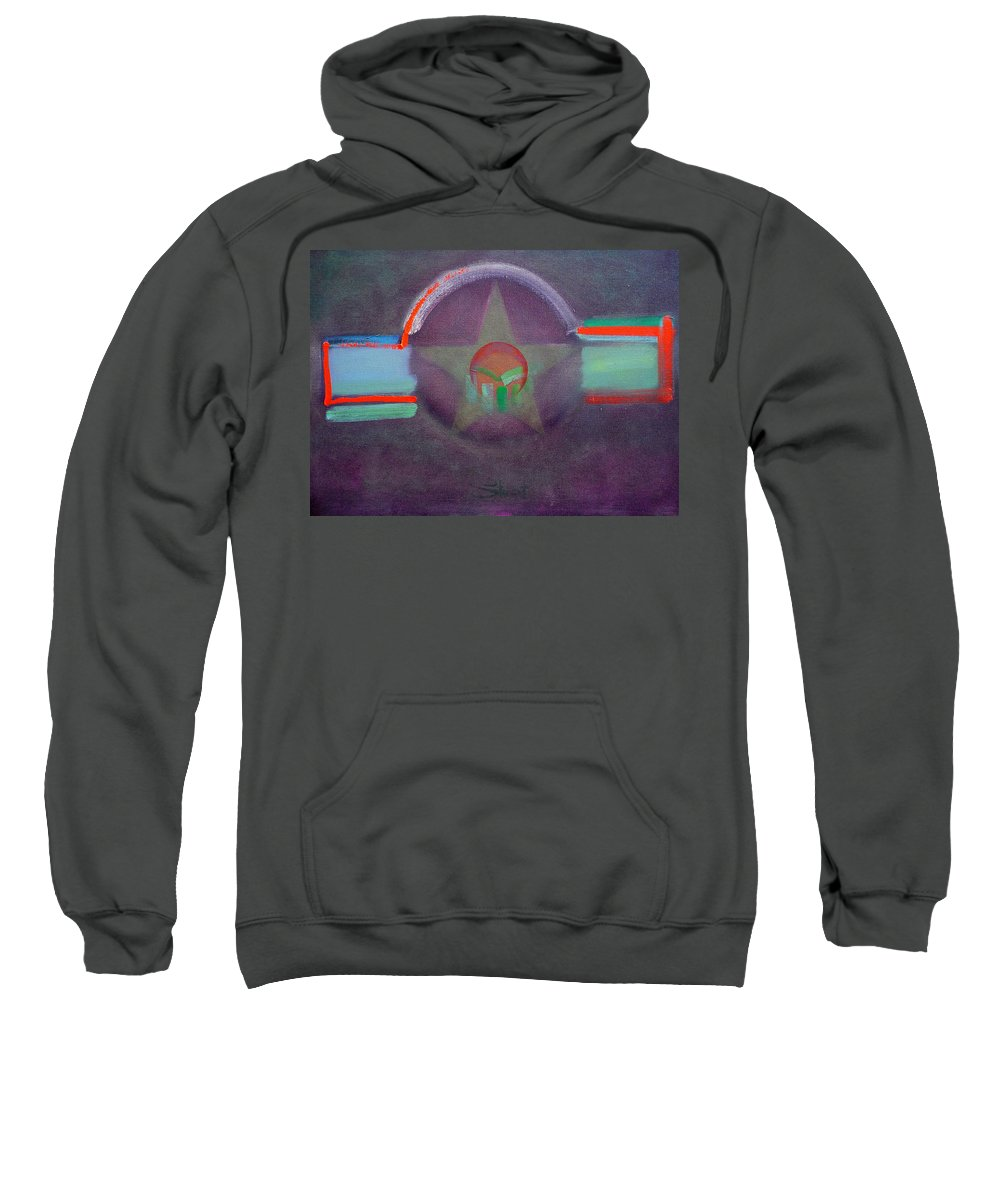 Star Sweatshirt featuring the painting Wings Vermillion  by Charles Stuart