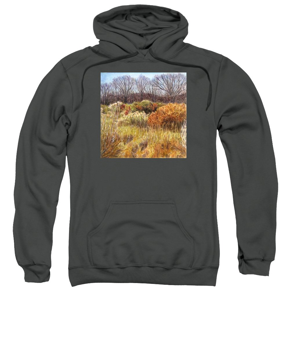 Landscape Sweatshirt featuring the painting Winter Desert by Candi Hogan