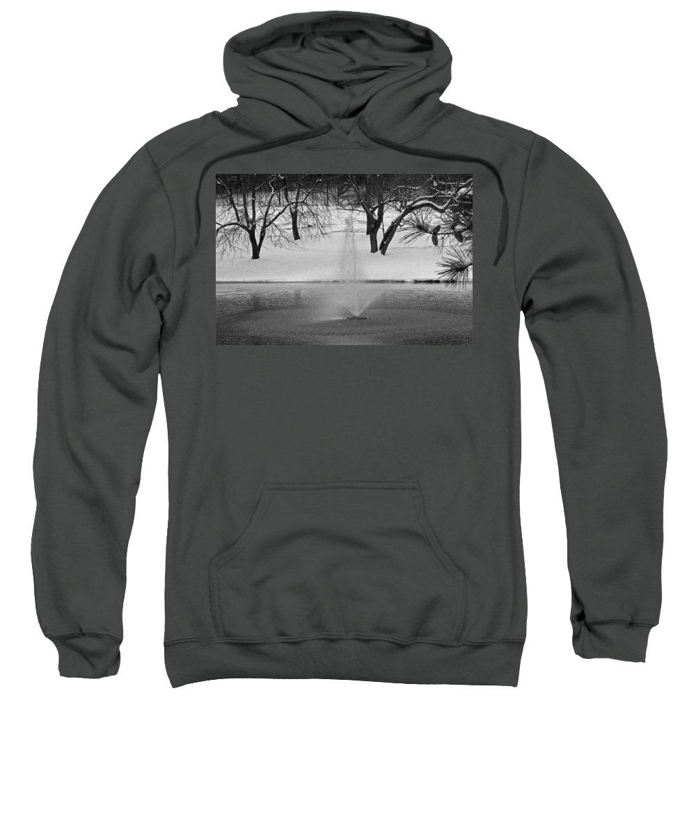Landscape Sweatshirt featuring the photograph Winter Fountain by David Campbell