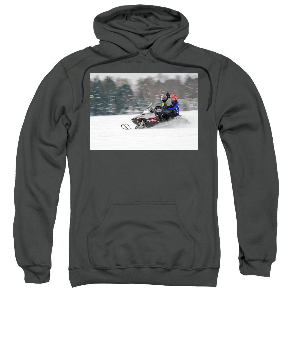 Snowmobile Sweatshirt featuring the photograph Winter Fun by Keith Armstrong