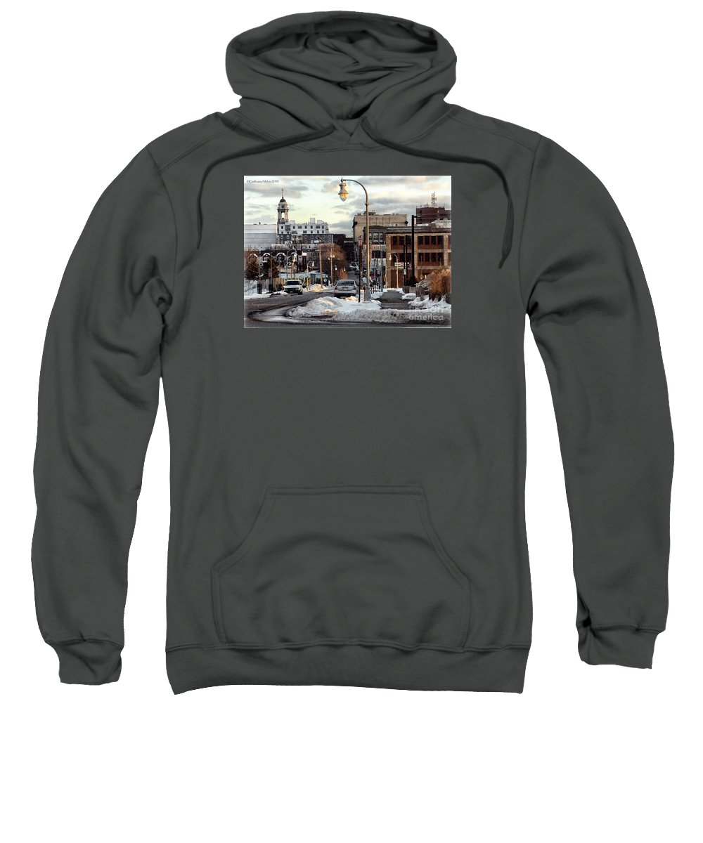 Landscape Sweatshirt featuring the photograph Winter In Portland by Catherine Melvin