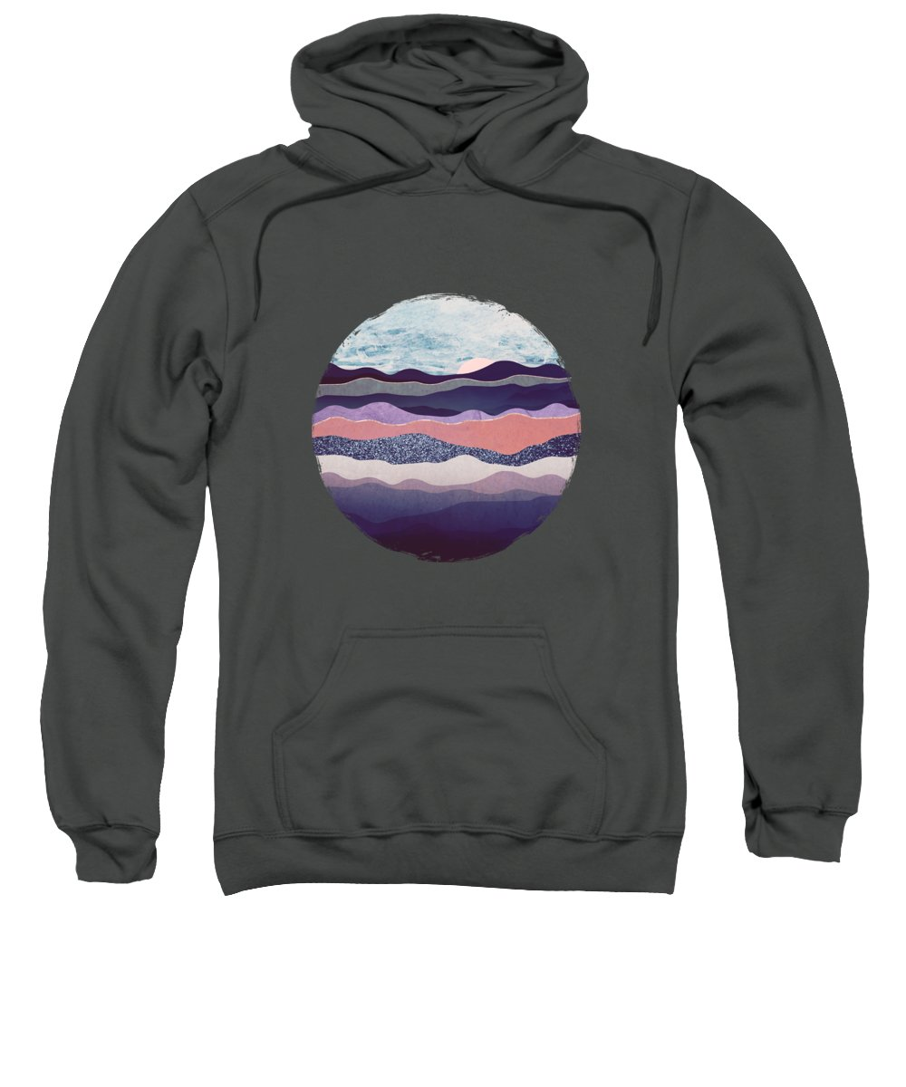 Winter Sweatshirt featuring the digital art Winter Mountains by Spacefrog Designs