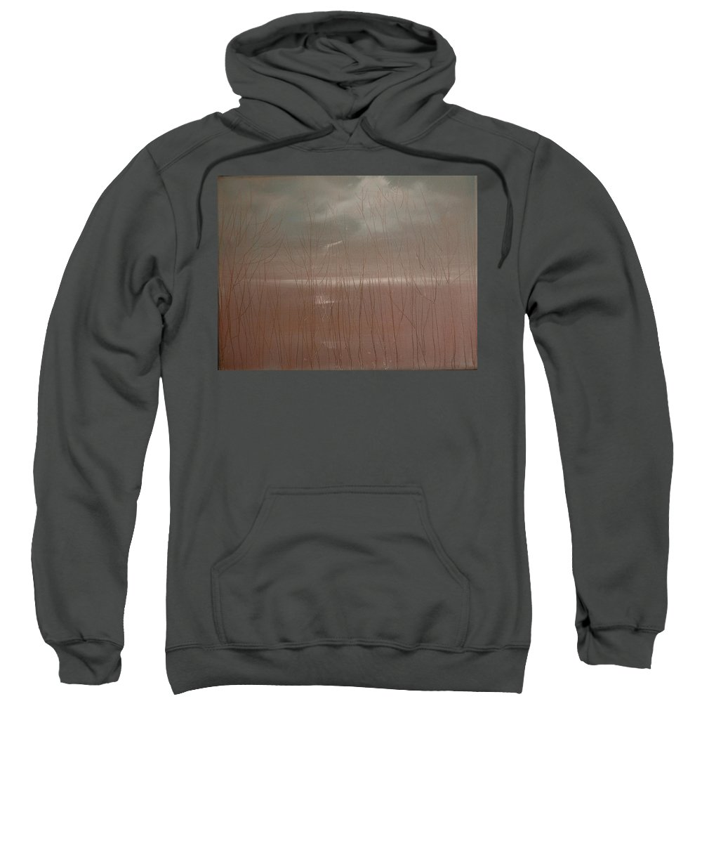 Dusk Sweatshirt featuring the painting Winter Of Hope by Jack Diamond