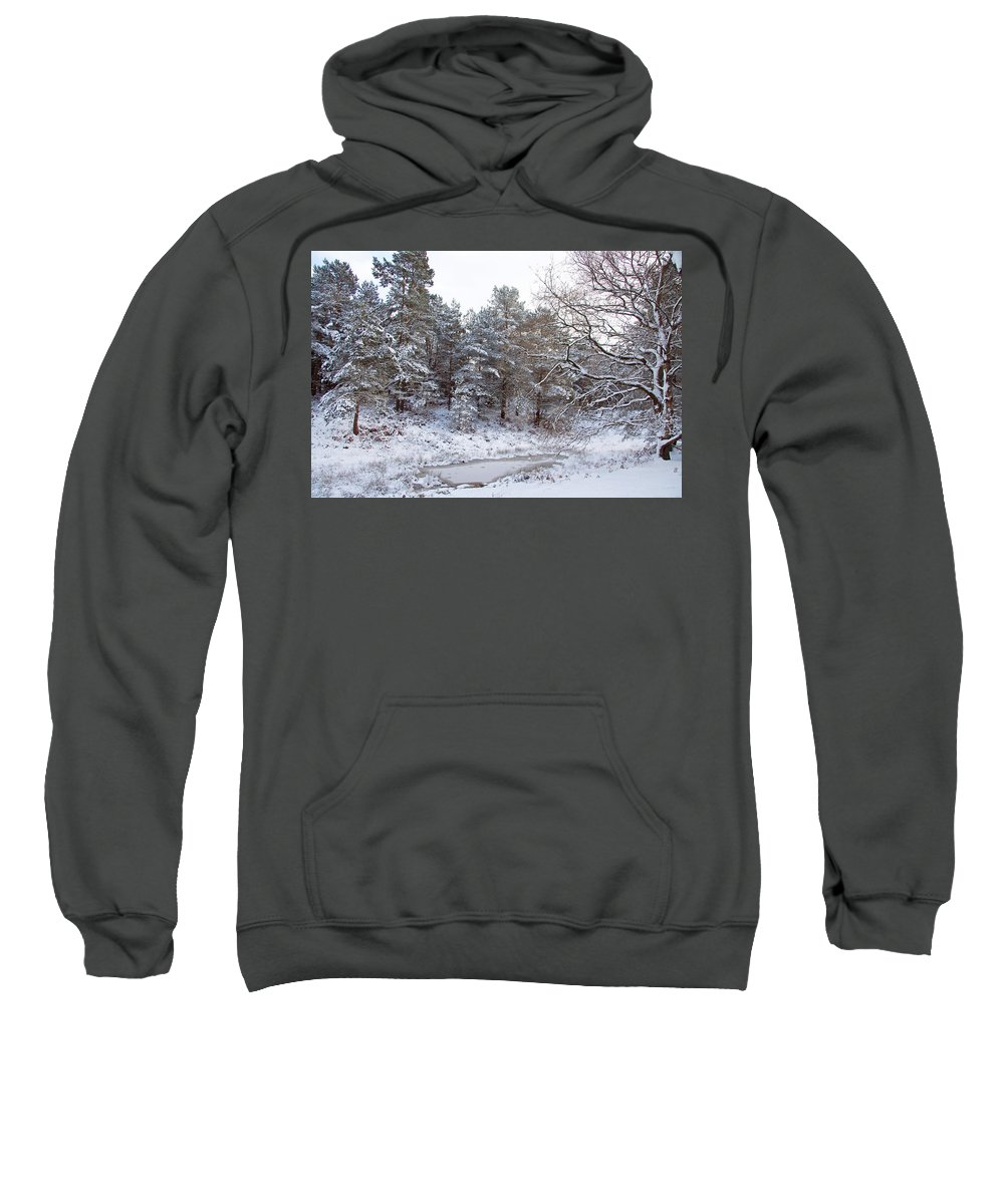 Snow Sweatshirt featuring the photograph Winter On The Chase by Bob Kemp