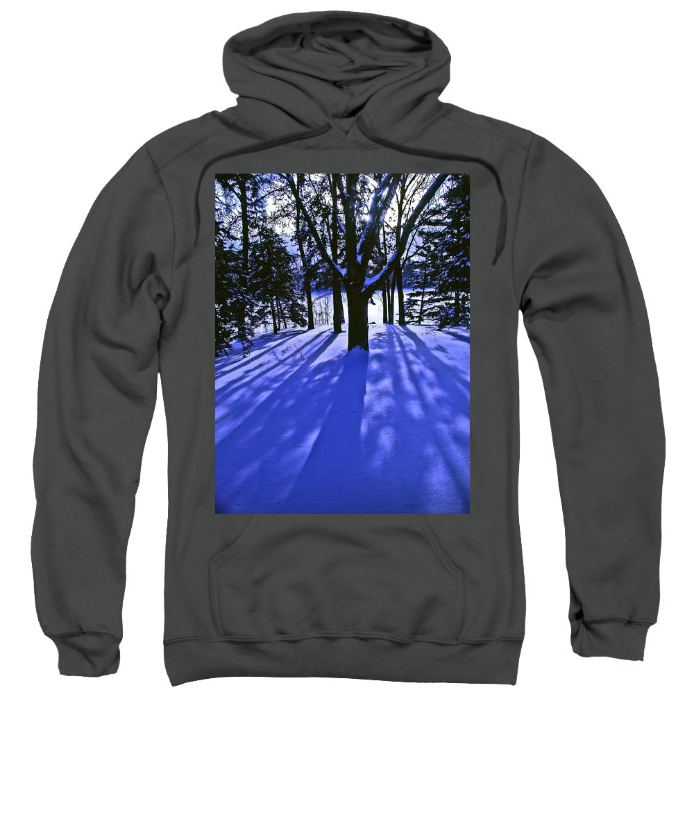 Landscape Sweatshirt featuring the photograph Winter Shadows by Tom Reynen