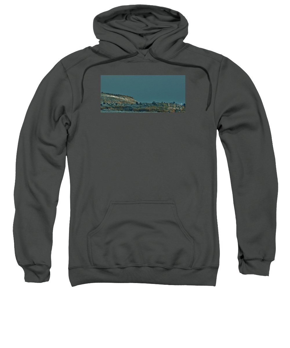 Snow Sweatshirt featuring the photograph Winter Skyline 2 by CL Redding