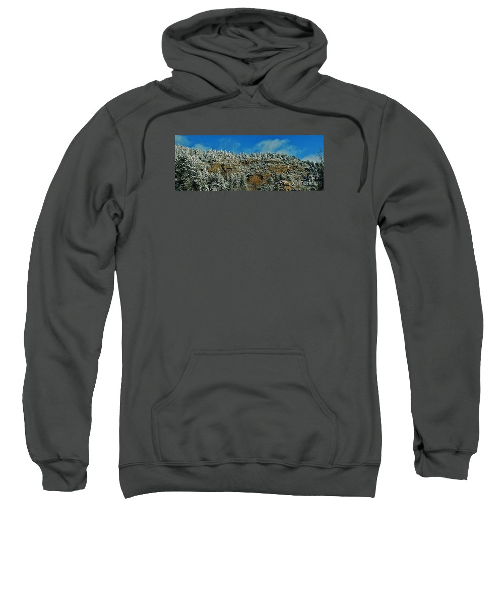 Snow Sweatshirt featuring the photograph Winter Skyline by CL Redding
