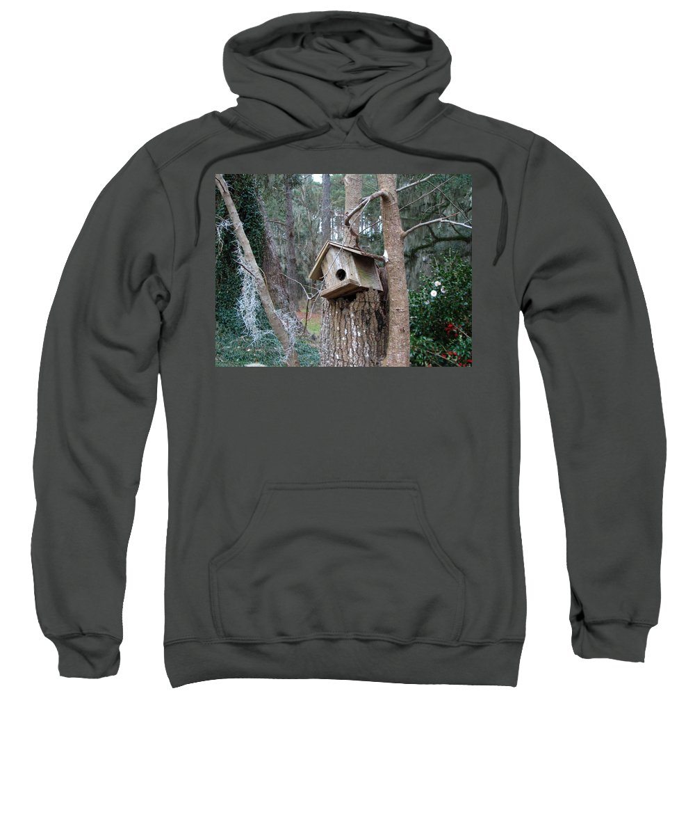 Bird House Sweatshirt featuring the photograph Winter's Empty Nest by J M Farris Photography