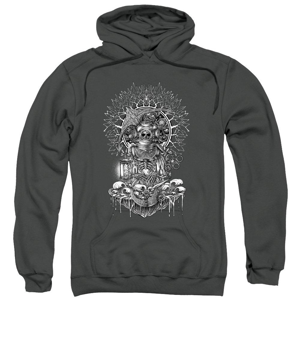 Skull Sweatshirt featuring the digital art Winya No. 73 by Winya Sangsorn