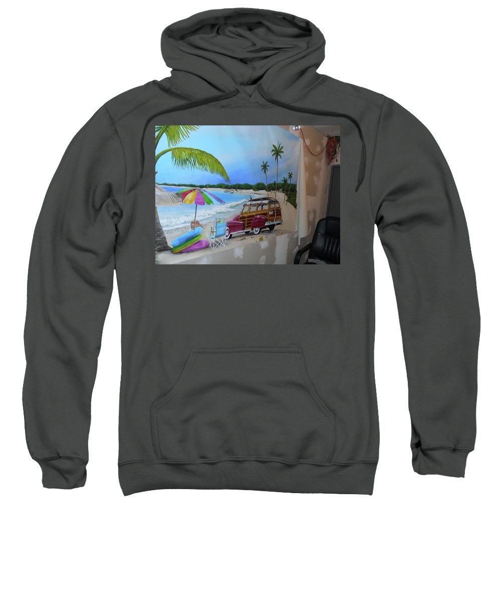 Sweatshirt featuring the painting Wip 03- Tyler's Room by Cindy D Chinn