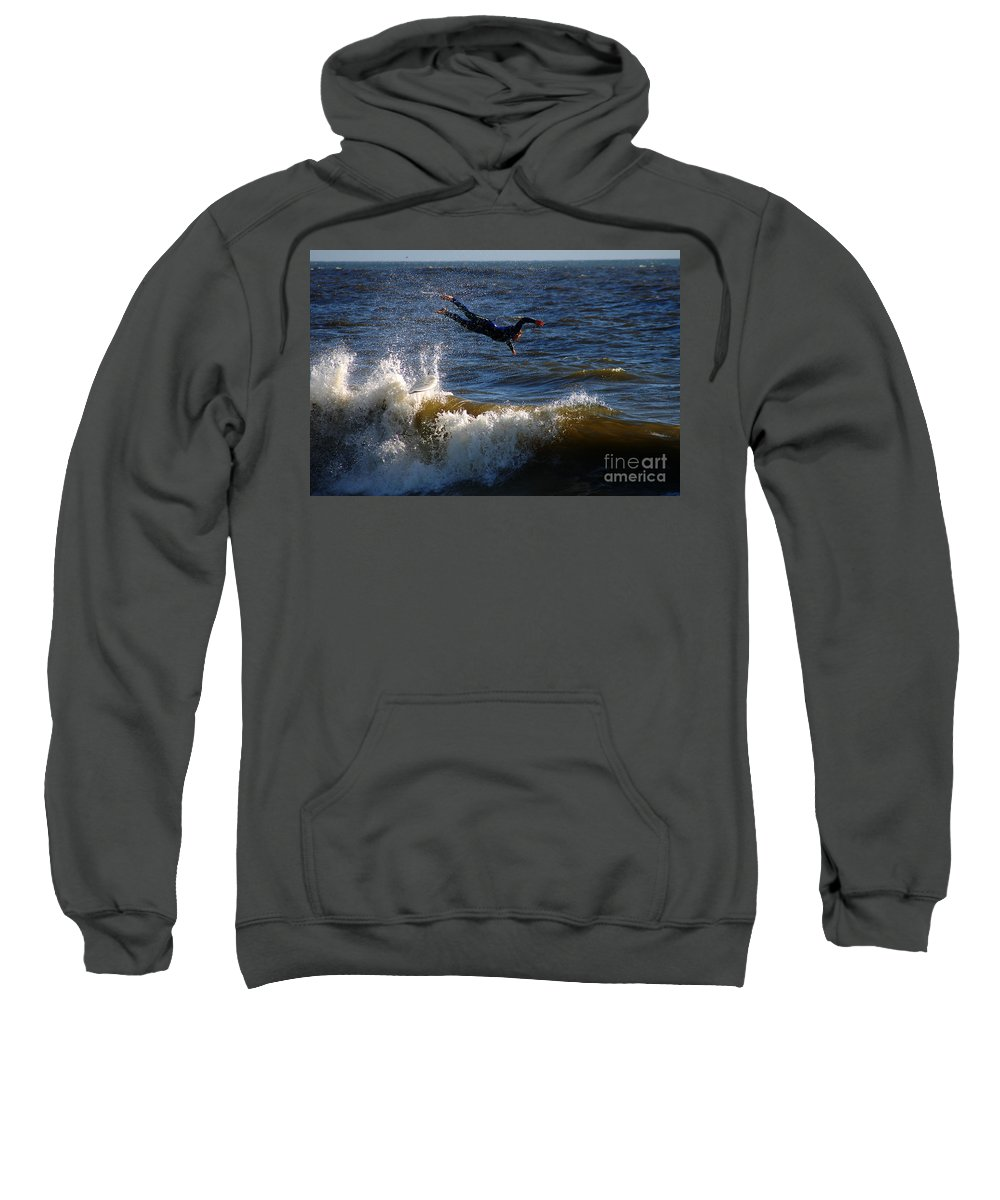 Clay Sweatshirt featuring the photograph Wipe Out by Clayton Bruster