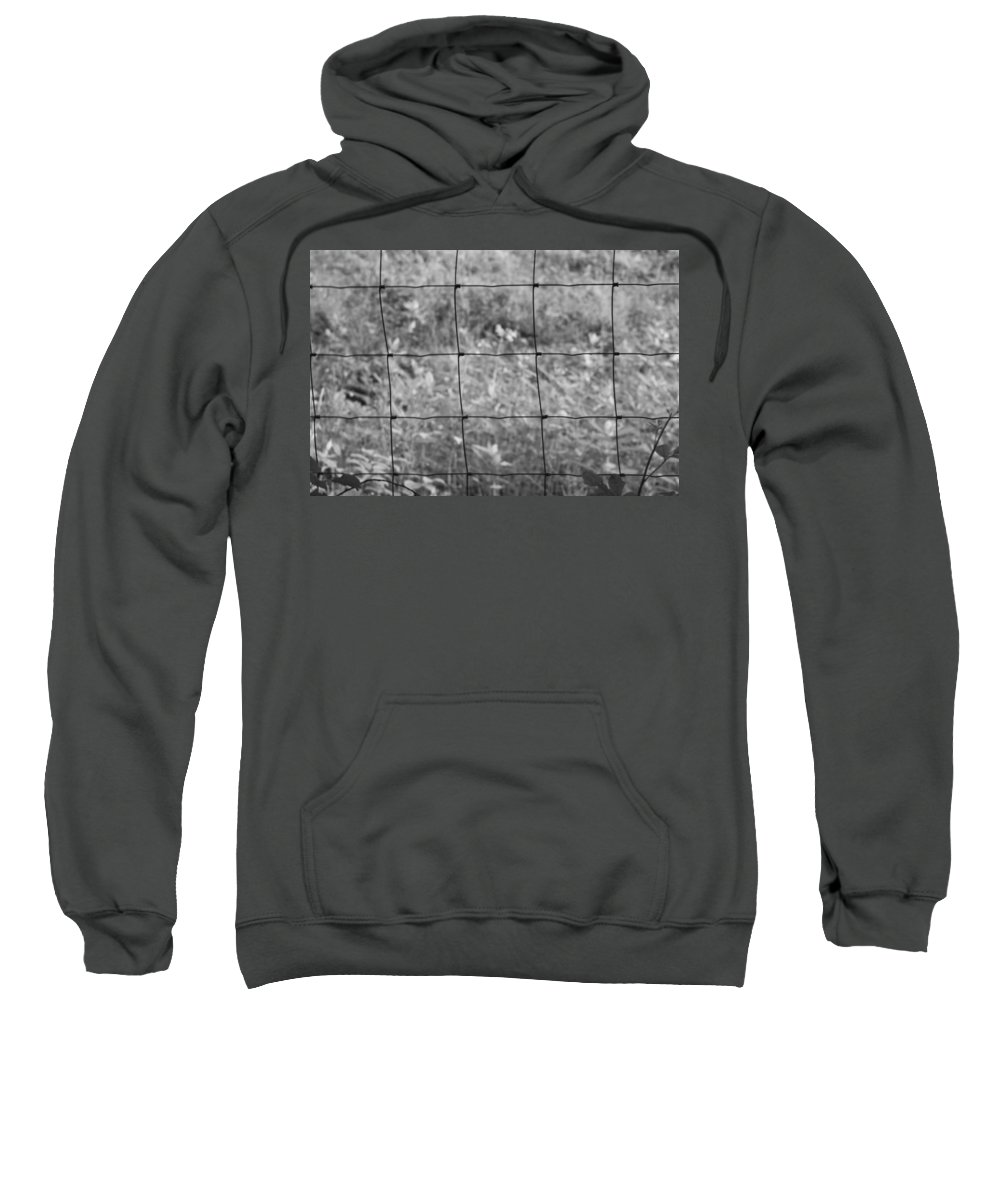 Wire Sweatshirt featuring the photograph Wire Fence by Frances Lewis