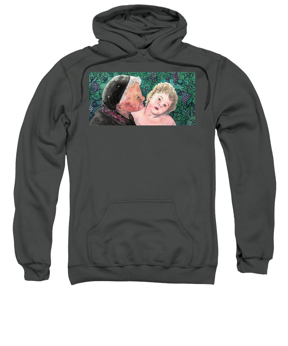 Child Sweatshirt featuring the painting Wisdom And Innocence by Gale Cochran-Smith
