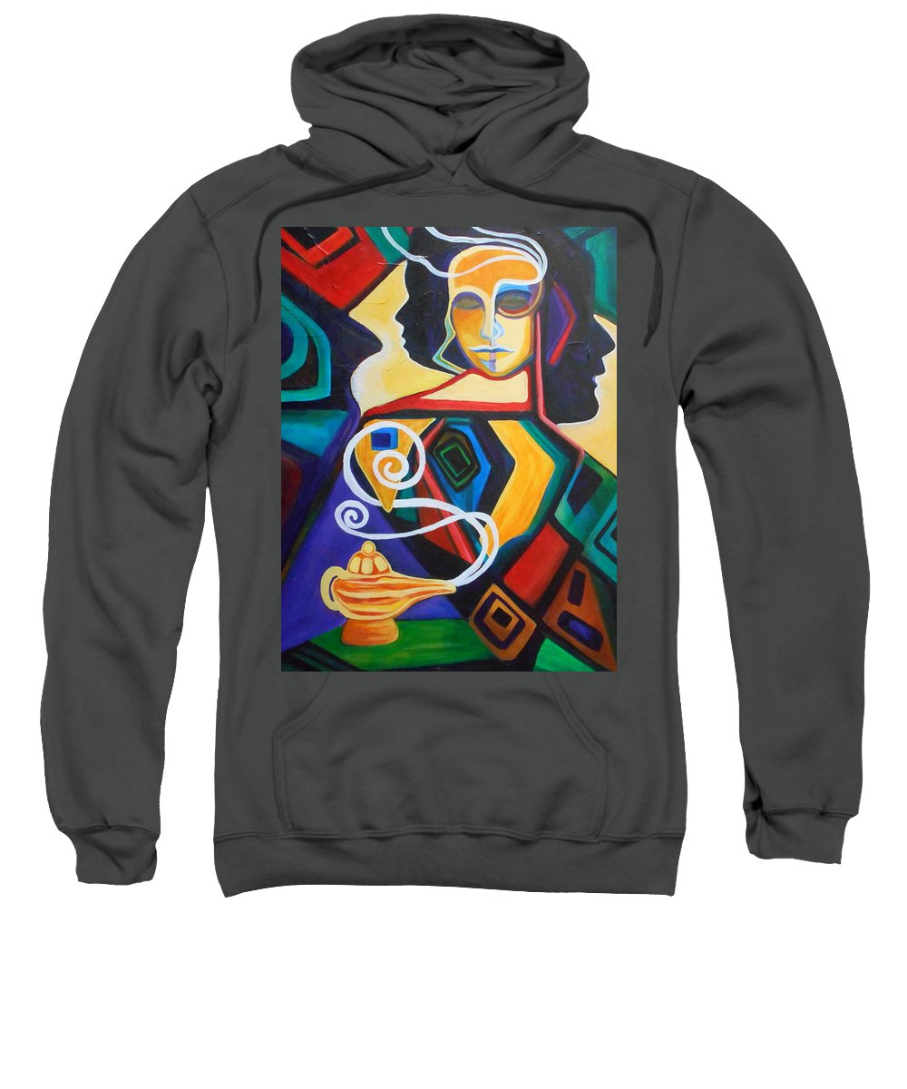Wishes Sweatshirt featuring the painting Wishful Thinking by Carolyn LeGrand