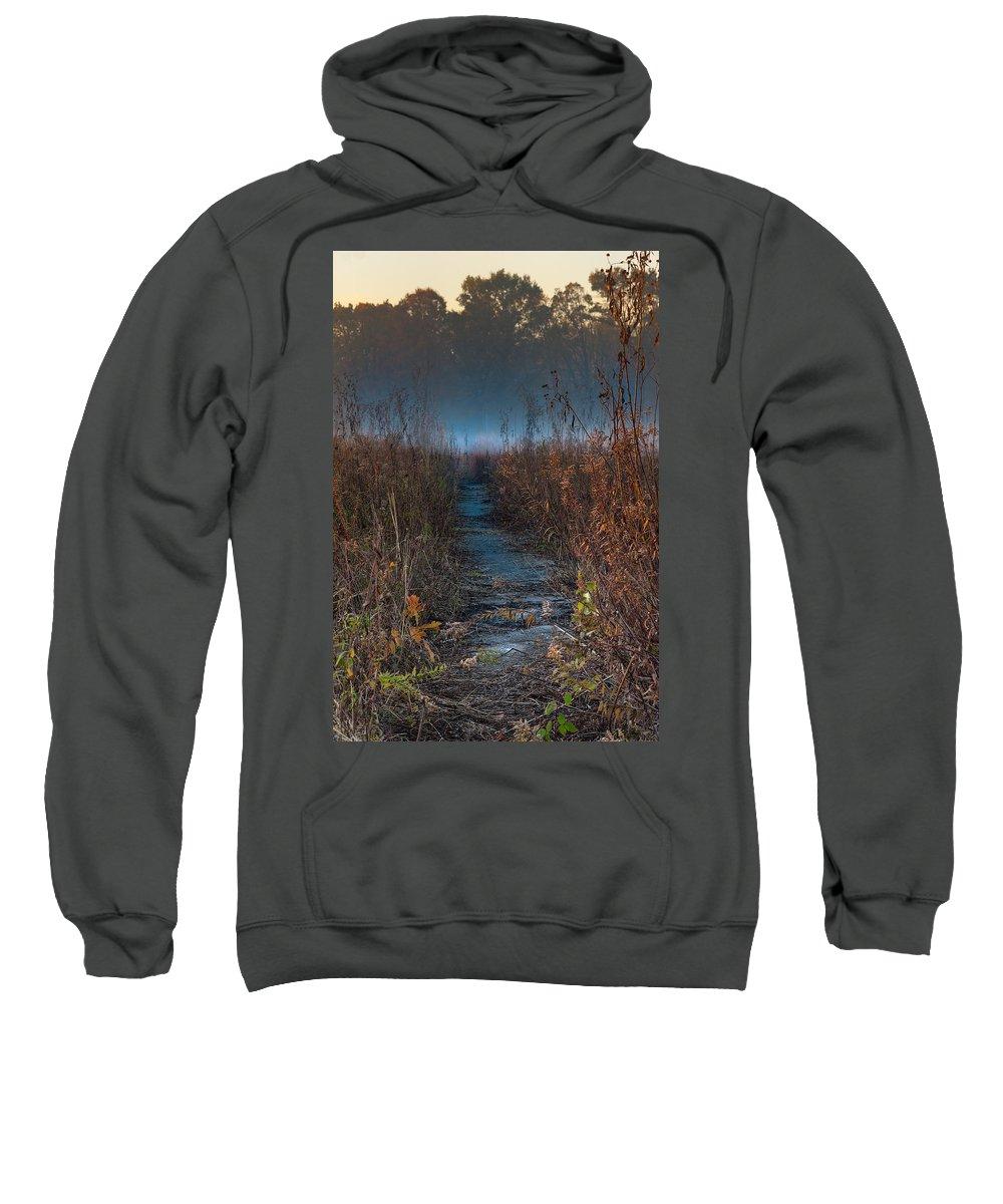 Road Sweatshirt featuring the photograph Wolf Road Prairie Trail by Steve Gadomski