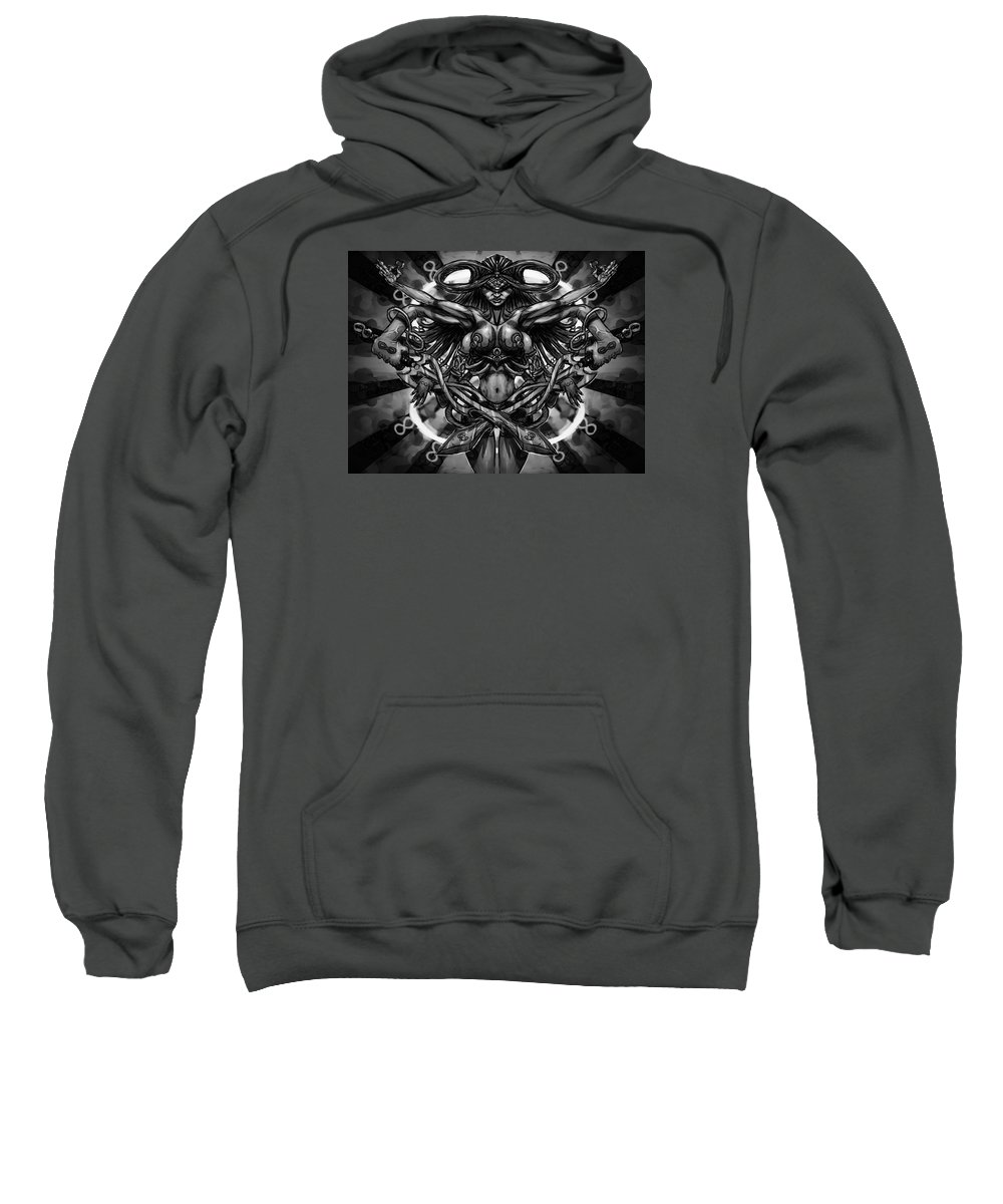 Woman Sweatshirt featuring the painting Woman Infinity by Kenneth Outwater
