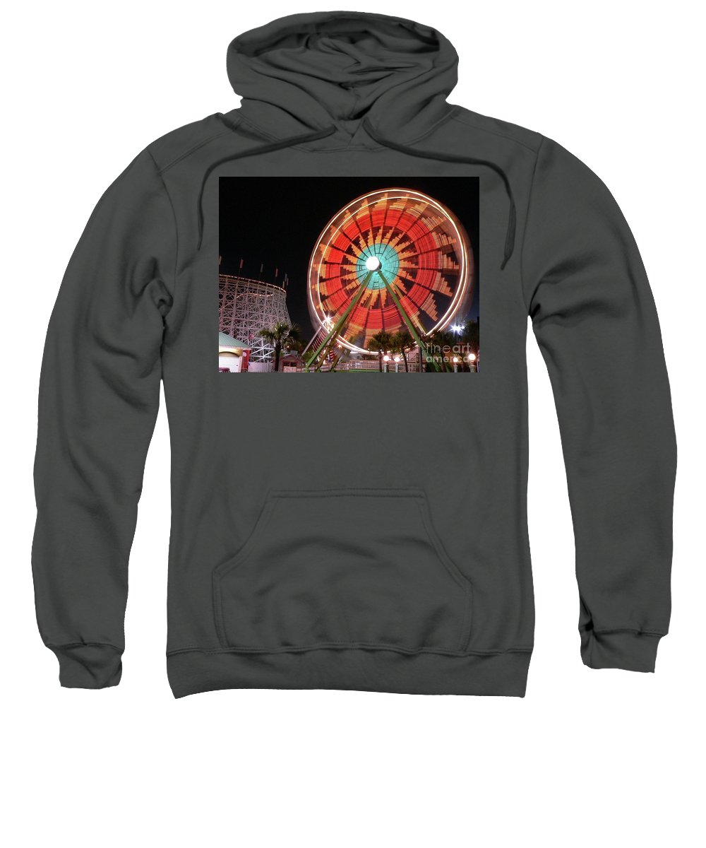 Ferris Wheel Sweatshirt featuring the photograph Wonder Wheel by Al Powell Photography USA