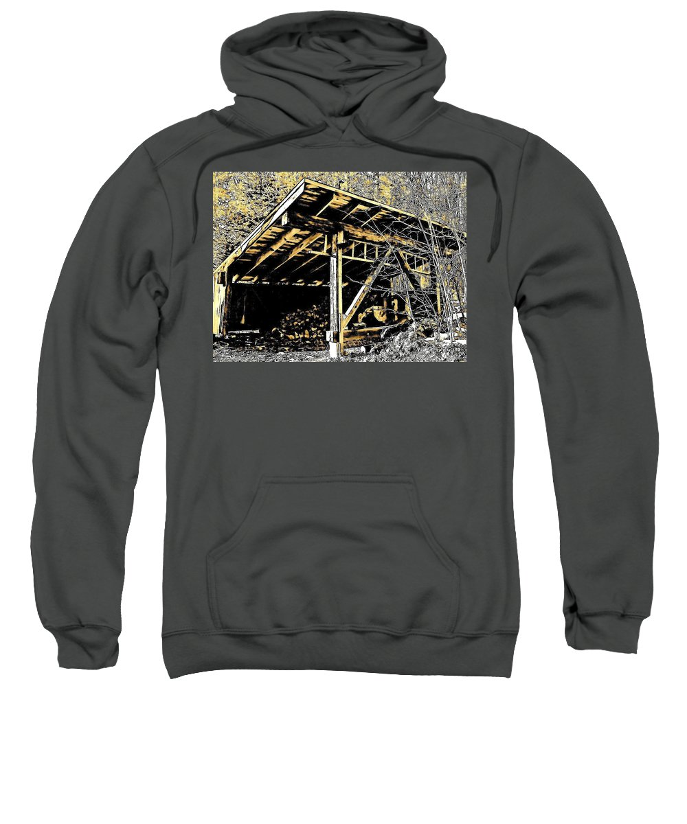 Sweatshirt featuring the photograph Wood Shed by Elizabeth Tillar
