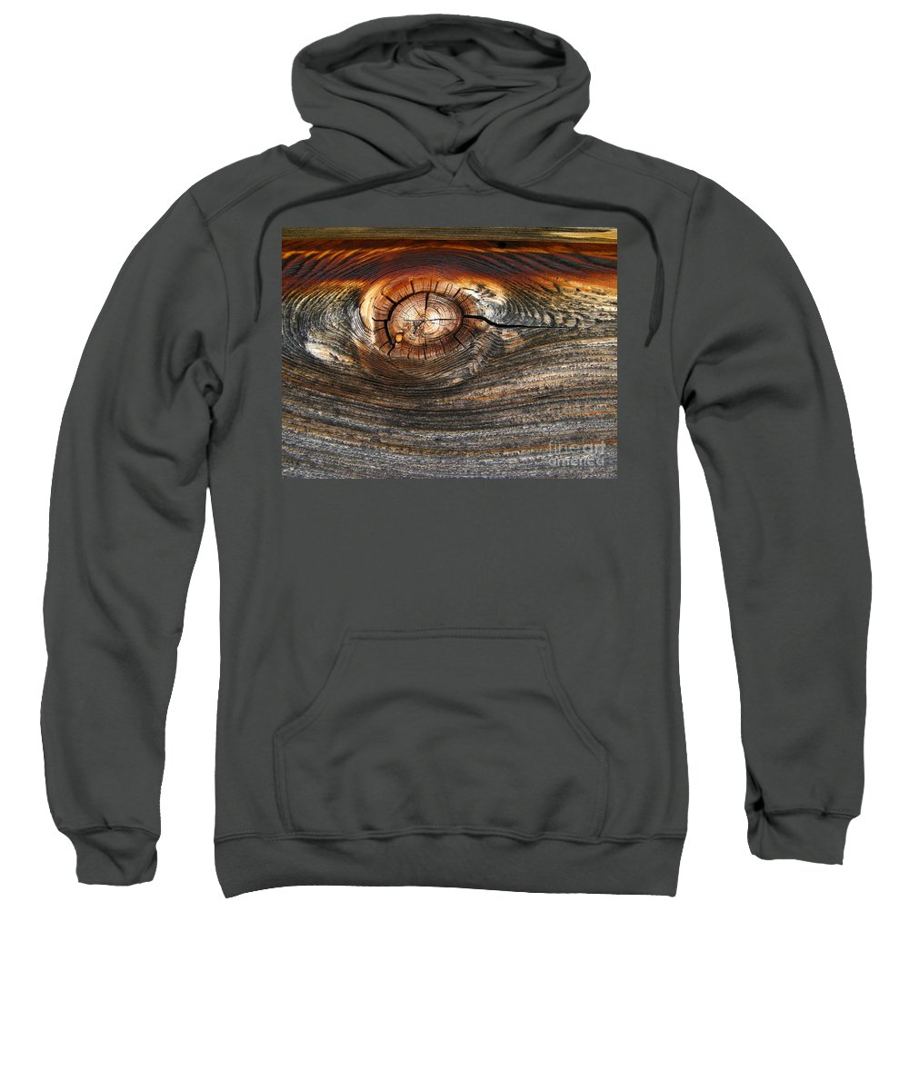 Nature Sweatshirt featuring the photograph Wooden Eye by Donica Abbinett