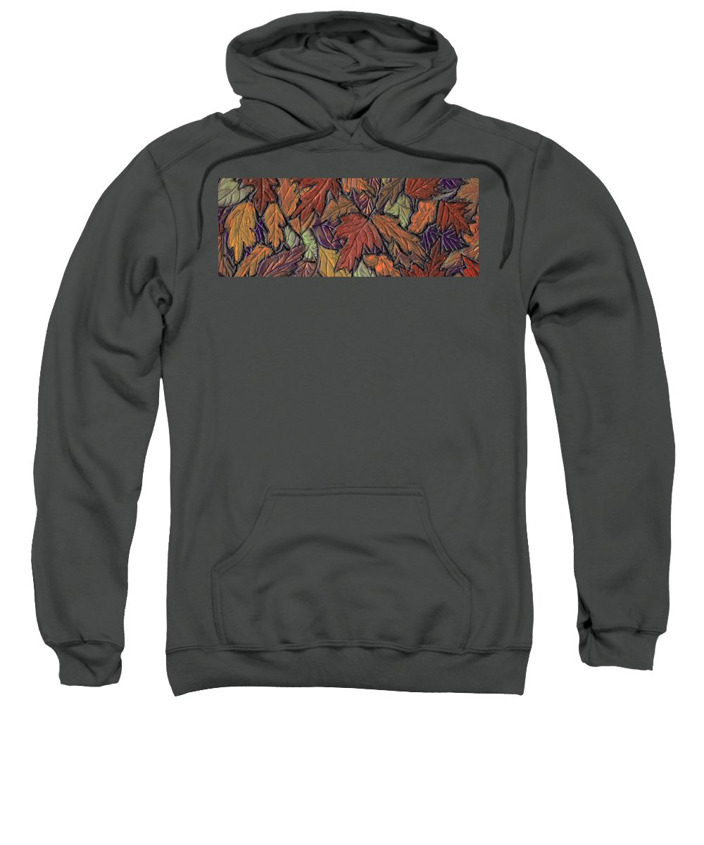 Autumn Sweatshirt featuring the painting Woodland Carpet by Wayne Potrafka