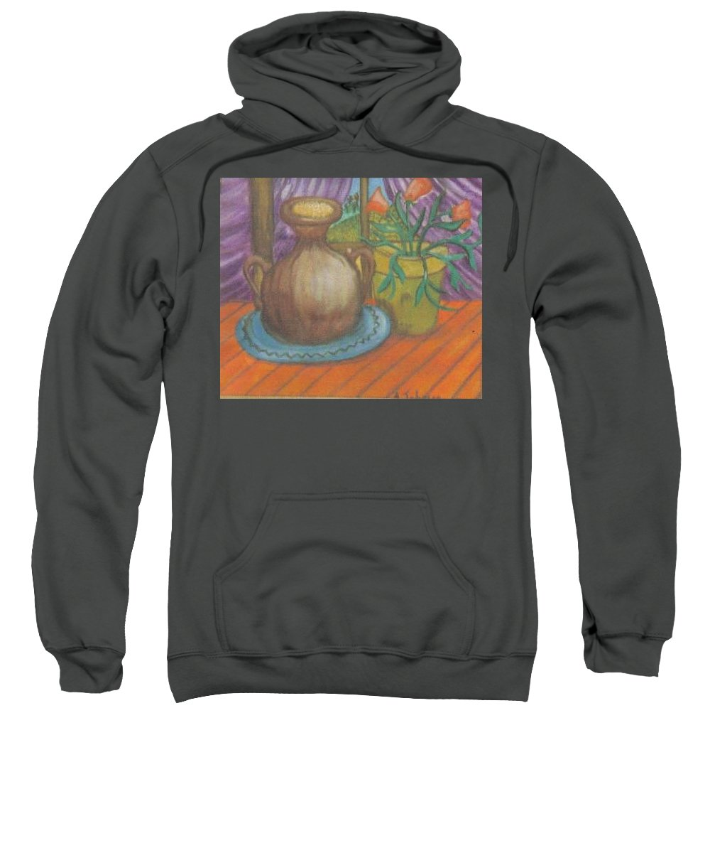 Still Life Sweatshirt featuring the painting Work by Andrew Johnson