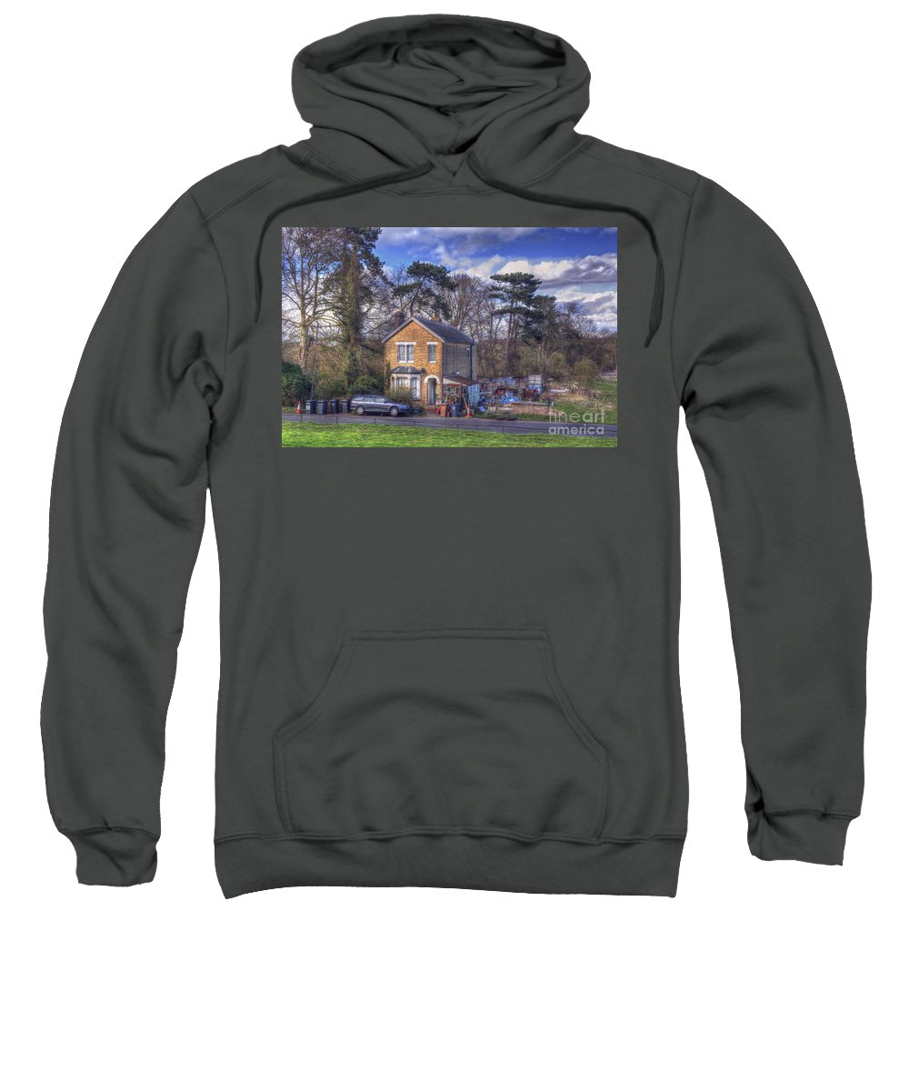 House Sweatshirt featuring the digital art Working From Home by Nigel Bangert