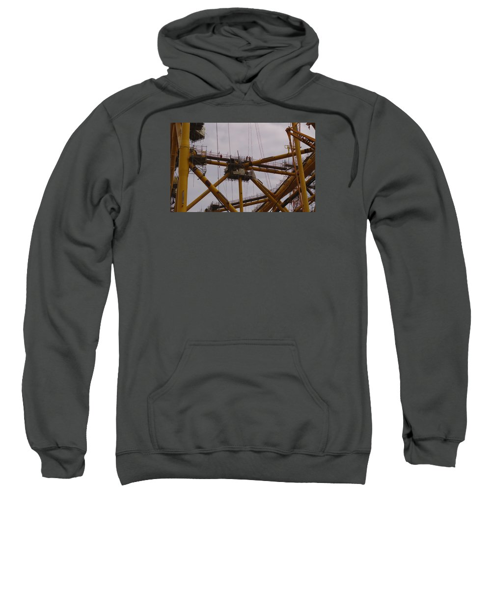 Workers Sweatshirt featuring the photograph Workmen Admiring The View by Adrian Wale