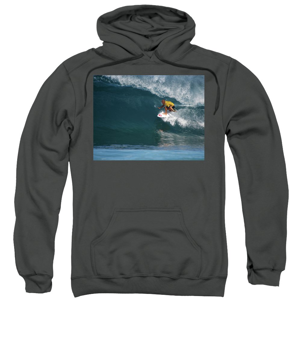 Kelly Slater Sweatshirt featuring the photograph World Champion In Action by Kevin Smith