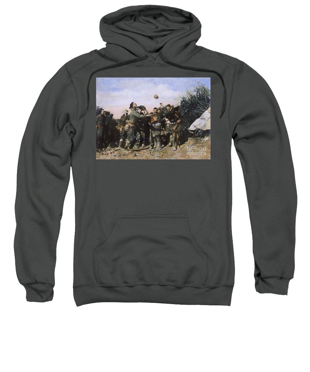 1918 Sweatshirt featuring the photograph World War I: Armistice by Granger