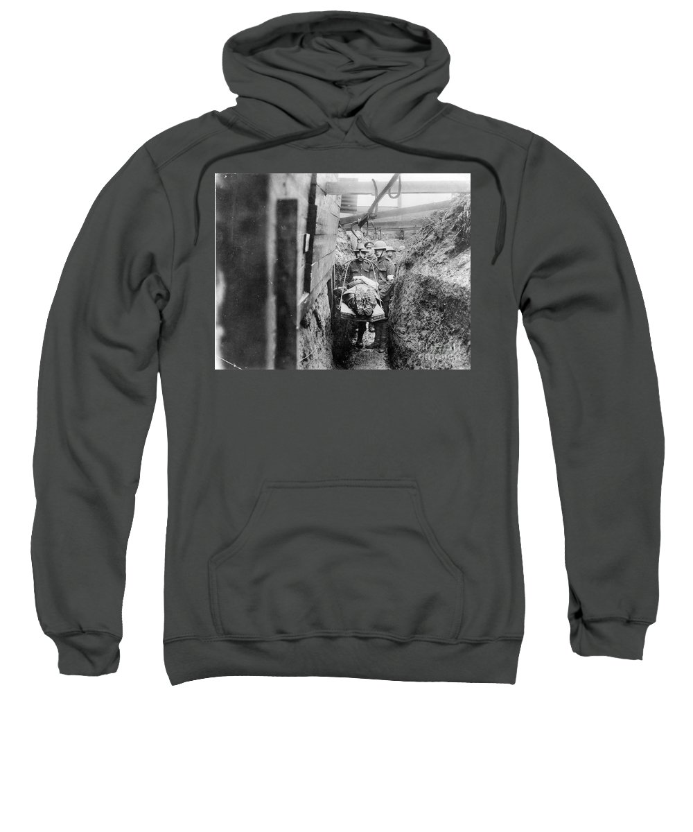 1910s Sweatshirt featuring the photograph World War I: France by Granger