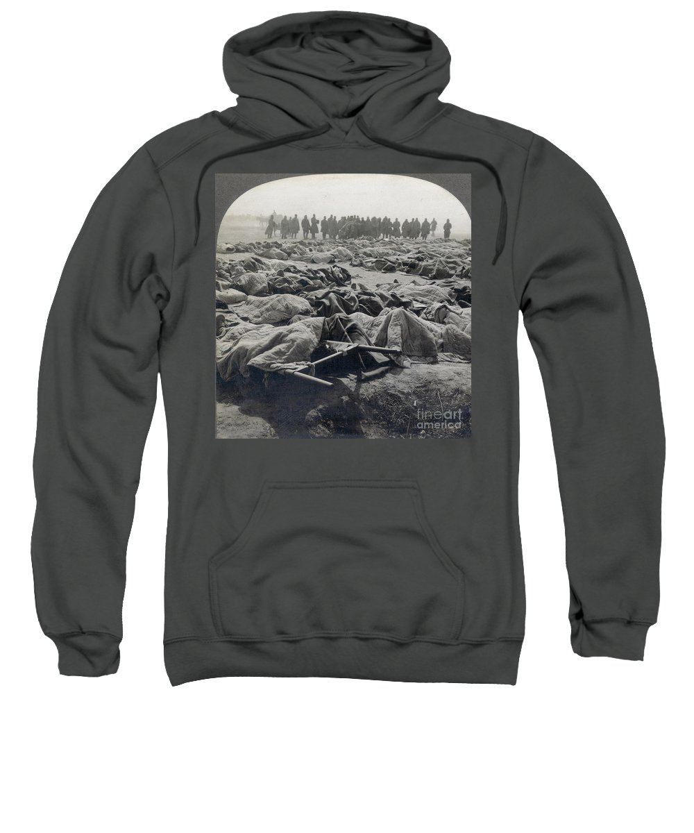 Casualty Sweatshirt featuring the photograph World War I: Russian Dead by Granger