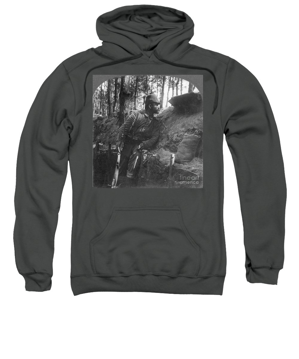 1916 Sweatshirt featuring the photograph World War I: Soldier by Granger