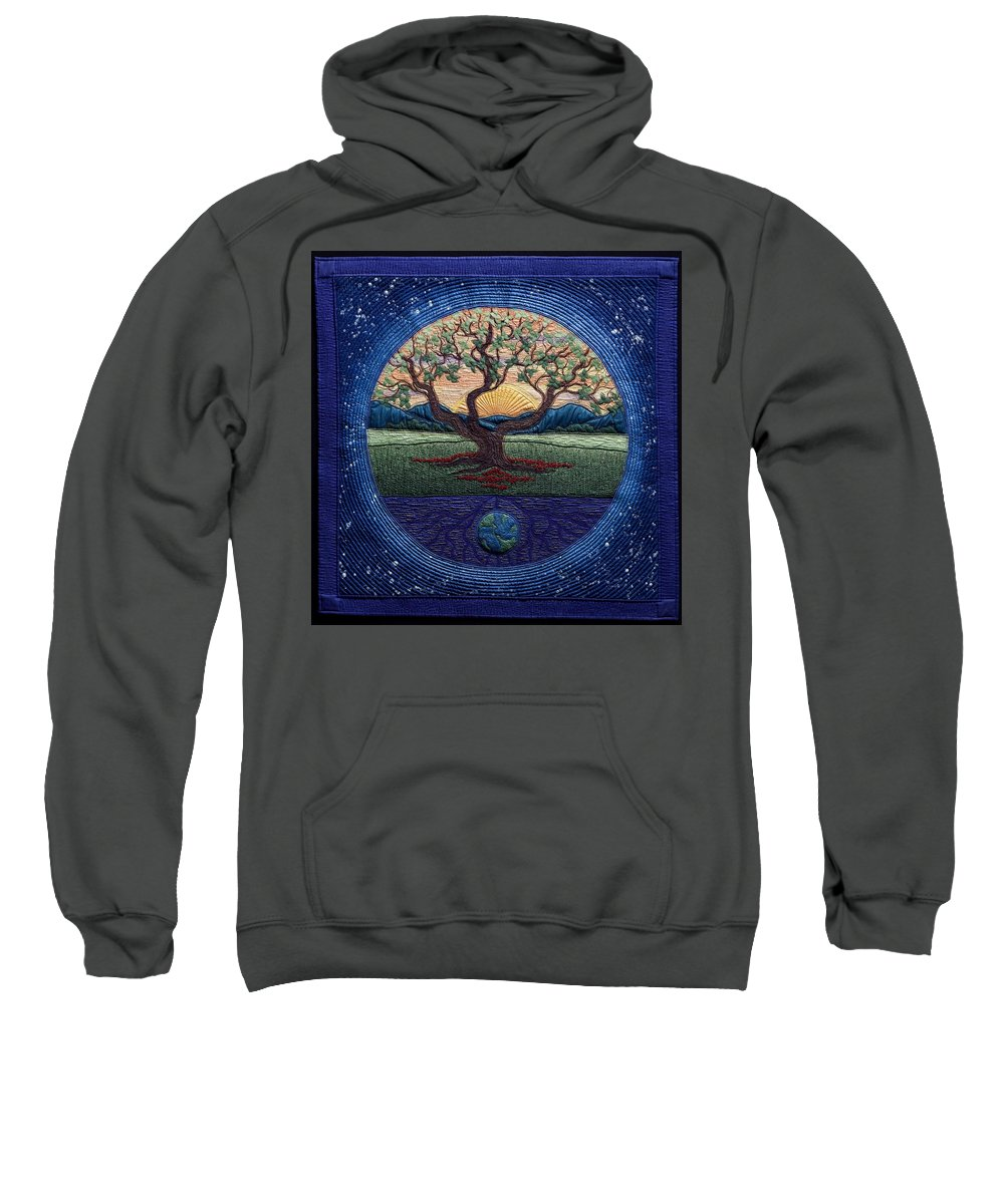 Landscape Sweatshirt featuring the tapestry - textile World Within Worlds by Dottie Moore