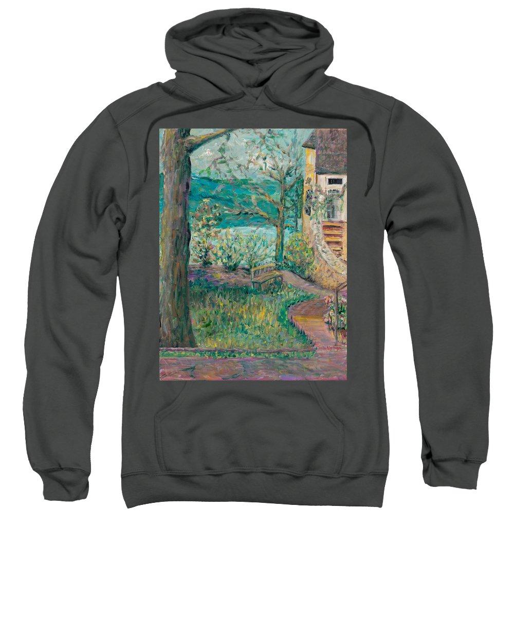Big Cedar Lodge Sweatshirt featuring the painting Worman House At Big Cedar Lodge by Nadine Rippelmeyer