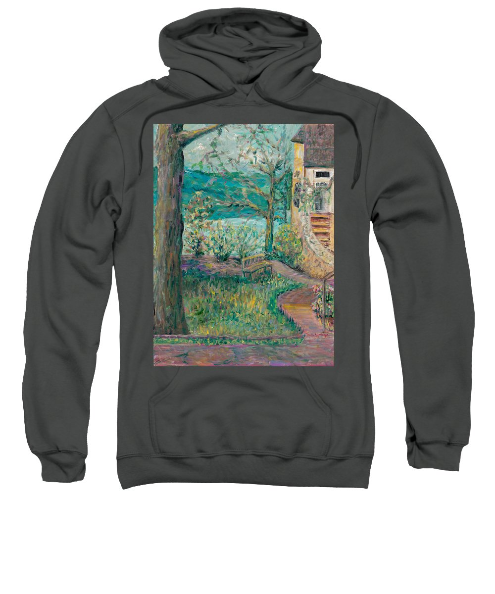 Big Cedar Lodge Sweatshirt featuring the painting Worman House At Big Cedar Lodge by Nadine Rippelmeyer