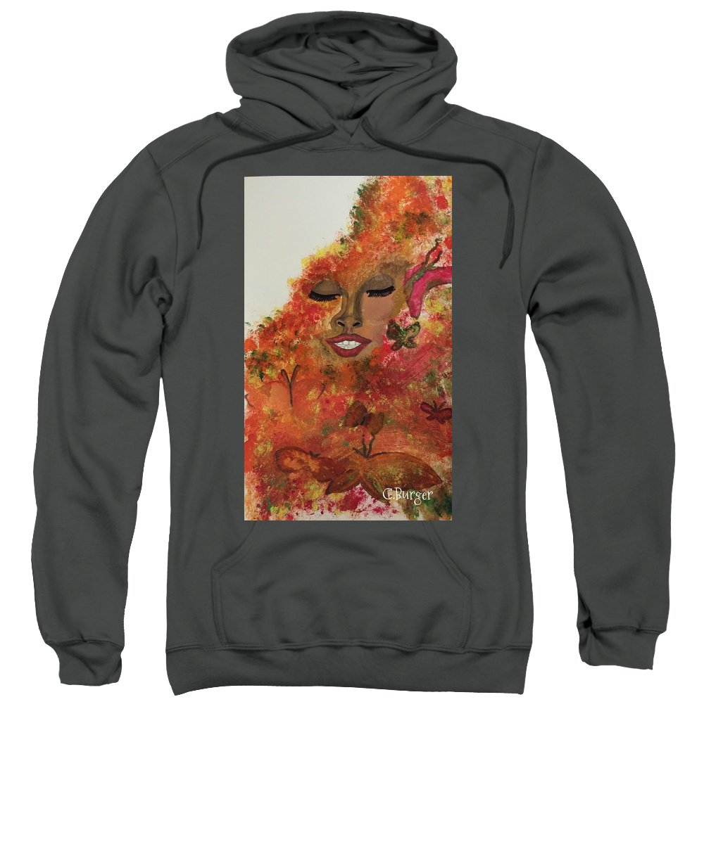 Butterflies Sweatshirt featuring the painting Wrapped In Bliss by CaSondra Burger