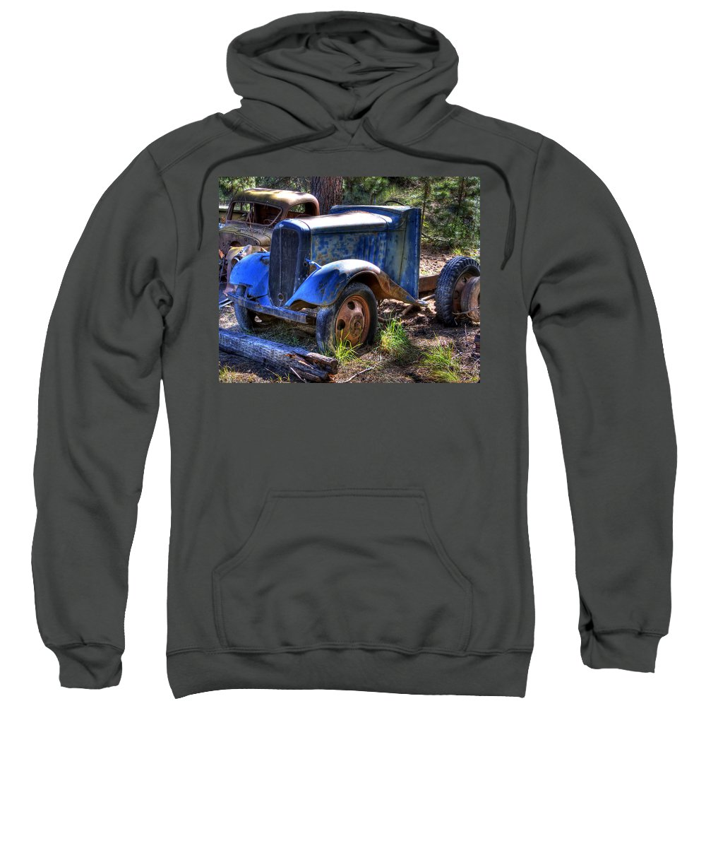 Automotive Sweatshirt featuring the photograph Wrecking Yard Study 15 by Lee Santa