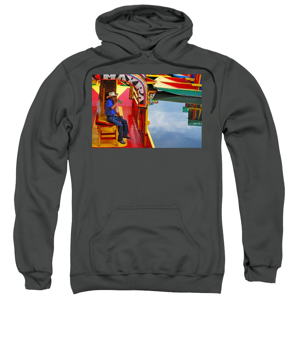 Skip Hunt Sweatshirt featuring the photograph Xochimilco by Skip Hunt