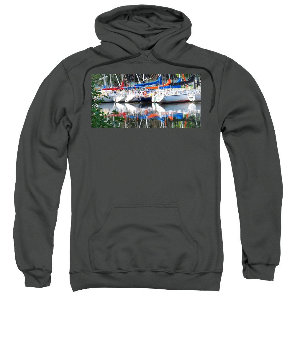 Boat Sweatshirt featuring the photograph Yachts At Rest by Ian MacDonald