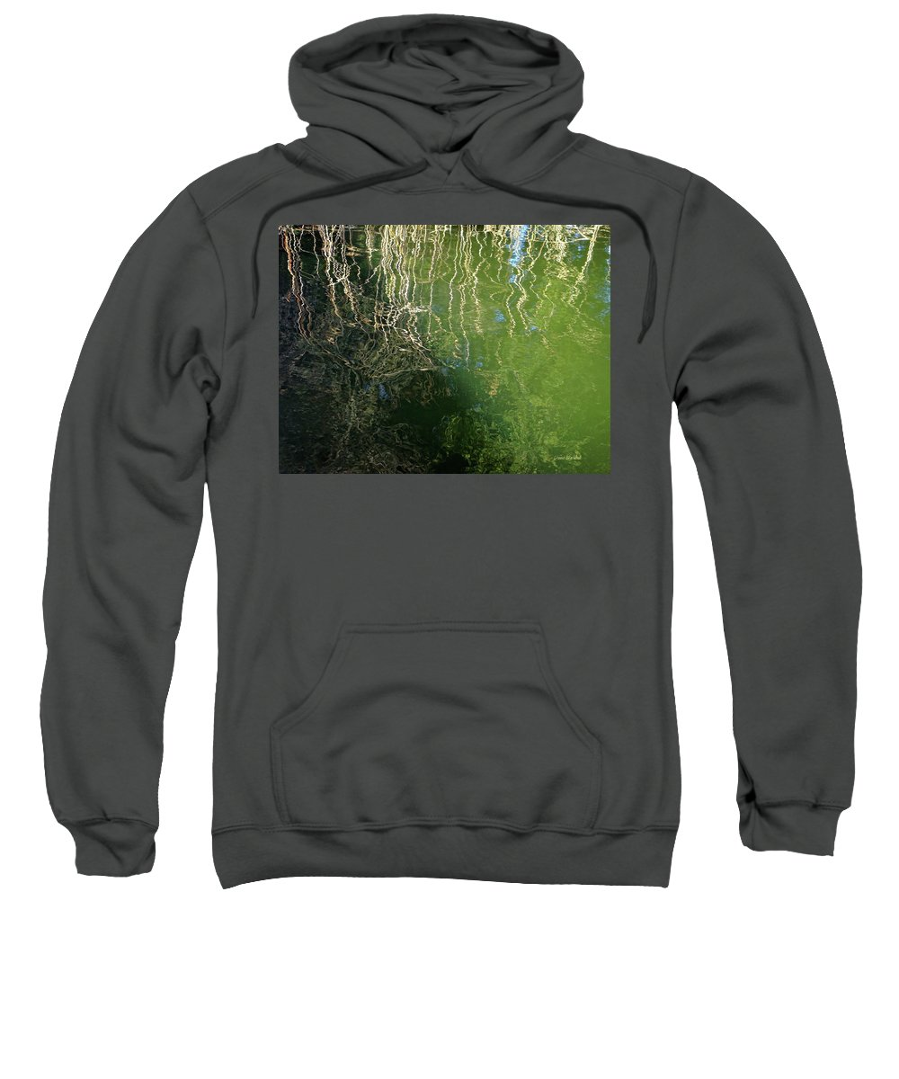 Water Sweatshirt featuring the photograph Yawning Depth by Donna Blackhall
