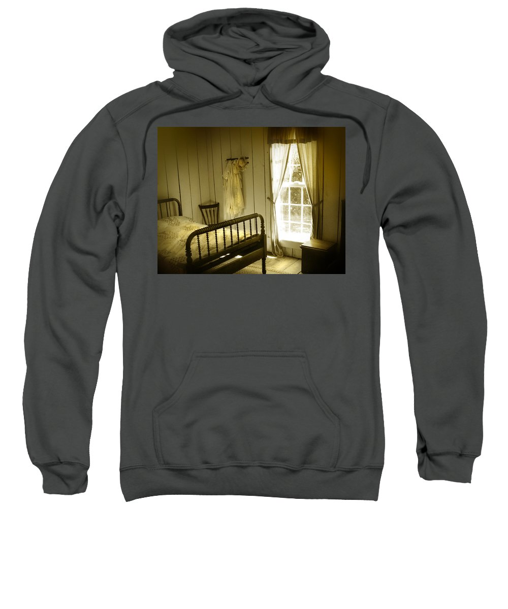 Bedroom Sweatshirt featuring the photograph Yellow Bedroom Light by Mal Bray