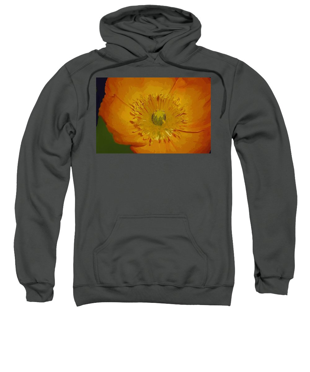 Poppy Sweatshirt featuring the photograph Yellow Poppy by Donna Bentley