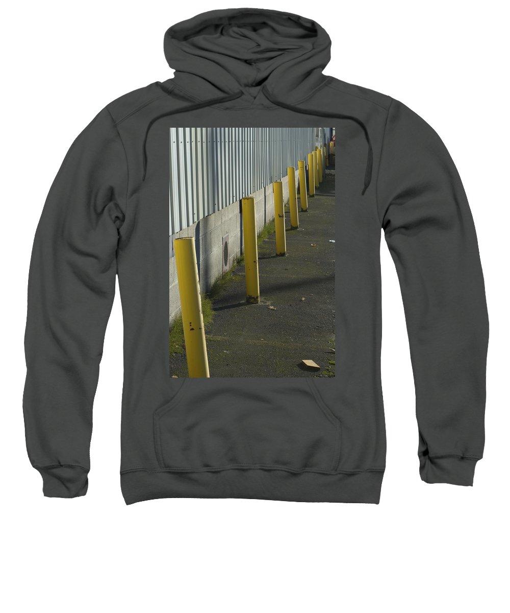 Park Sweatshirt featuring the photograph Yellow Posts by Sara Stevenson