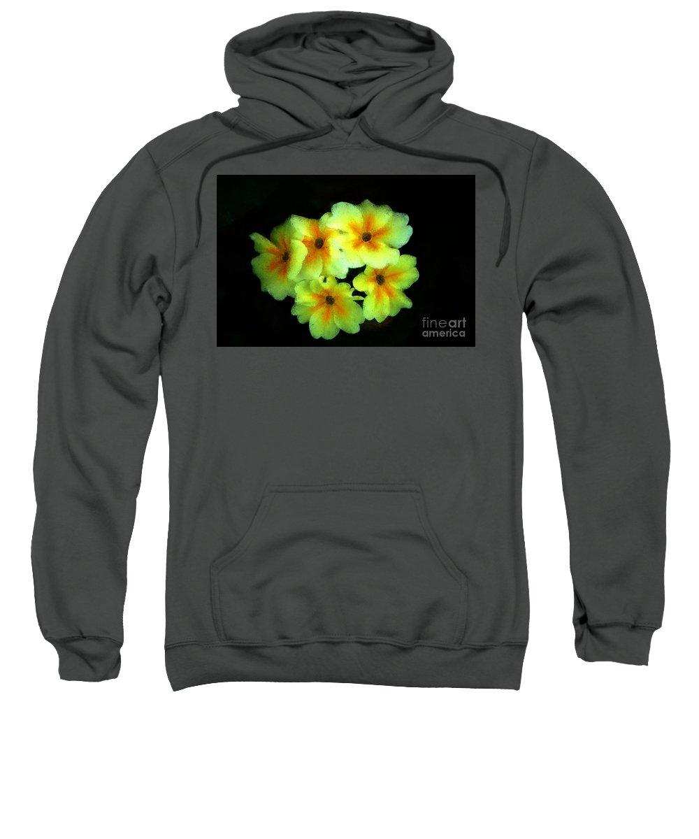 Digital Photo Sweatshirt featuring the photograph Yellow Primrose 5-25-09 by David Lane