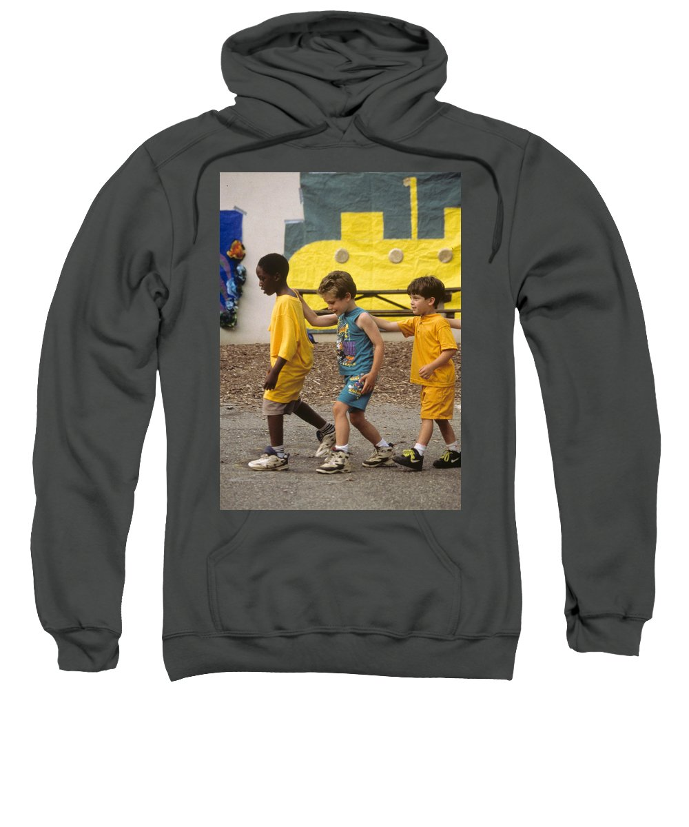 Boys Sweatshirt featuring the photograph Yellow Submarine by Laurie Paci