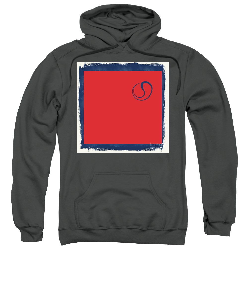 Yin Sweatshirt featuring the photograph Yin And Yang Blue And Red by Andrea Kollo