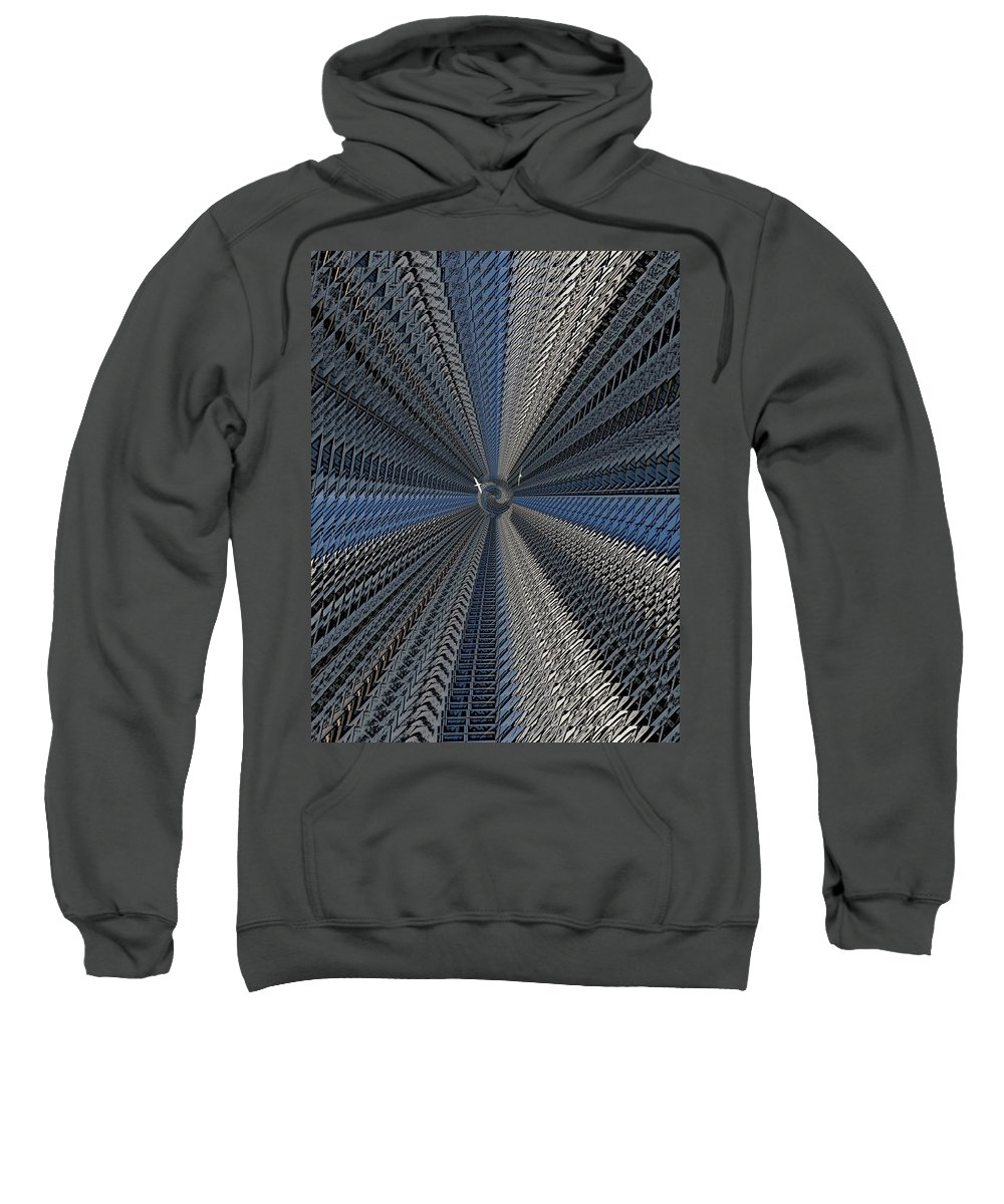 Yin And Yang Sweatshirt featuring the digital art Yin And Yang Revisited by Tim Allen