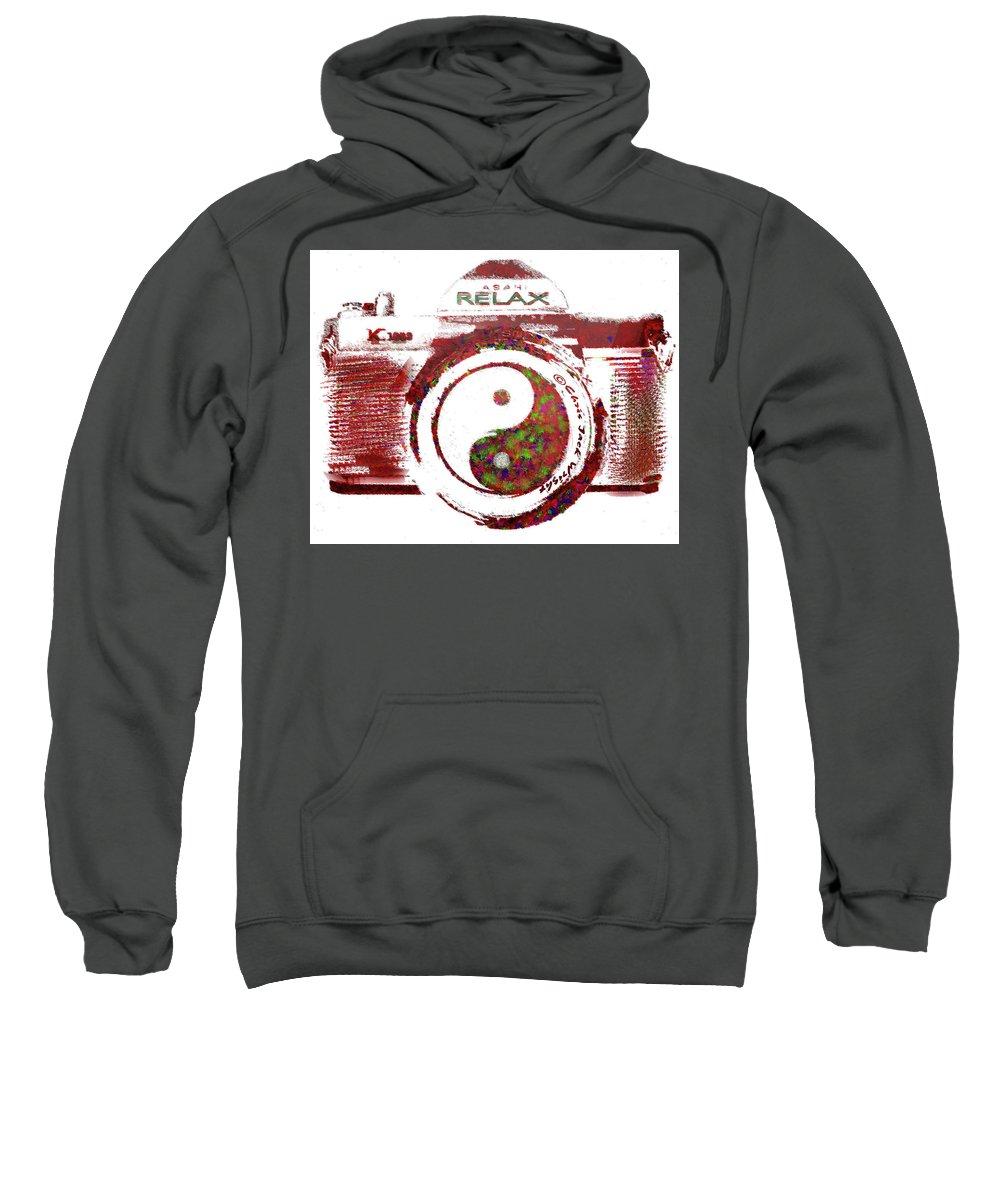 Photo Sweatshirt featuring the digital art Yin Yang Photo Can by Chris Jack Wright